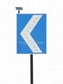 LED reflective directional chevron solar traffic sign 3