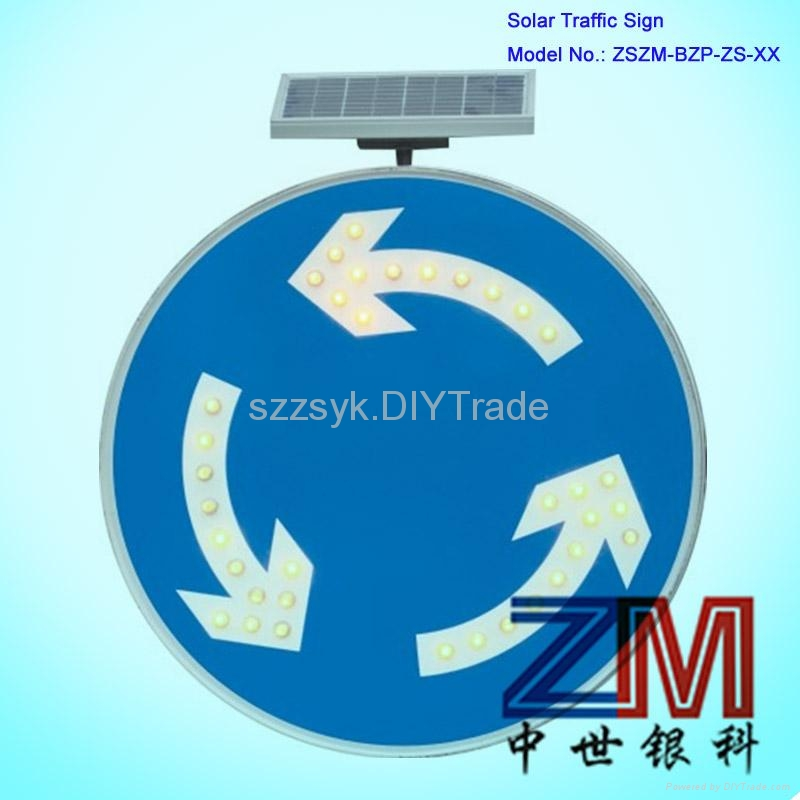 solar powered roadway directional traffic sign  4