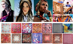 Silk satin Printed scarf lady shawl scarves women factory for OEM Manufacturers