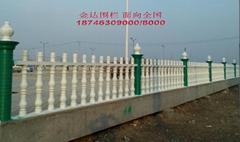 內蒙古綠色水泥藝朮圍欄