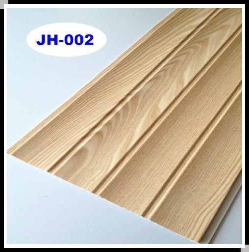 Interior Decorative Triple Grooves Wood Design Pvc