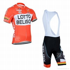 100% polyester cycling wear with zipper in good quality