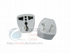 US Power Convertor AC Socket Flat Pins Power Plug