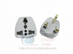 UK Power Convertor Three Pins AC Socket Power Plug Adapter