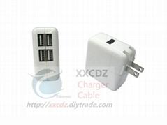 四USB电源适配器5V 2000mA