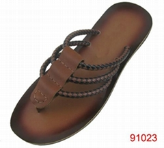 special upper brush design men slippers