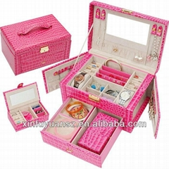 PU leather portable jewelry box
