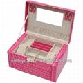 PU leather portable jewelry box