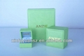 Professional custom PU leather green jewelry box