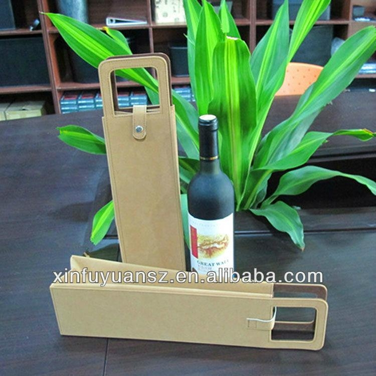 PU leather portable wine box