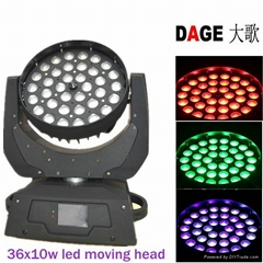 led wash moving head 36x10w zoom stage lighting