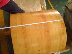 Prepainted steel coil wood pattern PPGI high quality