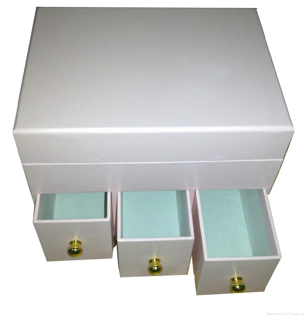 Nice Designed Women Paper Drawer Box For Jewelry Collection J030