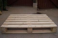 Wooden pallet of storage equipment