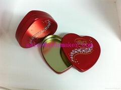 heart-shaped metal box