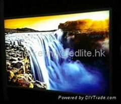 Backlit Design Snap open single side LED slim light box for Huge size
