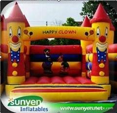 Colorful Inflatable Clown Castle Bouncer