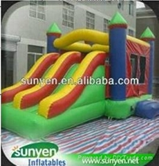 Colorful Simple Design Inflatable Castle Combo