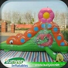 Mini Inflatable Caterpillars Slide for Kids