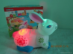 Lift and down rabbit(with led light and music)
