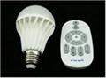 2.4G wireless remote led bulb brightness dimmable color temperature adjustable 1