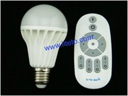 2.4G wireless remote control brightness dimmable led bulb 1