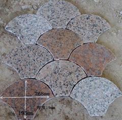 石材花岗岩扇贝形背景墙石铺地石