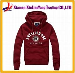 Fashion CVC fleece pullover sweatshirt / hoodie