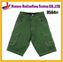Summer Fashion Plain Man Cargo Shorts