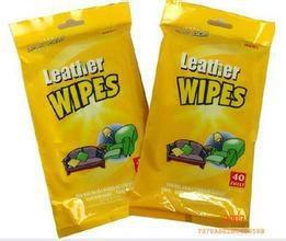 Leather clean protect wet wipes tissues 1