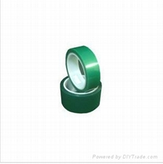 Good price high temperature PET silicone green tape for glass laminating