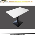 Square White Corian Solid Surface marble Dining Table 3