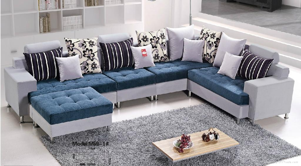 L a039 u shaped european style solid wood sofa chinese for U shaped living room layout
