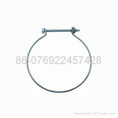 Steel wire hose clamp