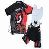 2011 Scott BlackRed Cycling Jersey and Bib Shorts Set