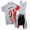 """2011 Scott RC Pro White And Red Cycling Jersey and Bib Shorts Set """