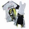 2011 Scott WhiteYellow Cycling Jersey and Bib Shorts Set