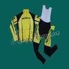 """""""2012 Scott Yellow Cycling Long Sleeve Jersey And Bib Pants Set """""""