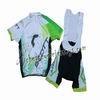 2013 Scott White And Green Cycling Jersey And Bib Shorts
