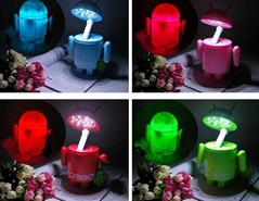 YL-T498 Android Robot 16 LED Folding USB Rechargeable Table Lamp