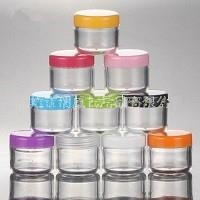10ml PS plastic small cosmetic cream jar with pp caps