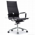 rotating leather office chair high mid back 1