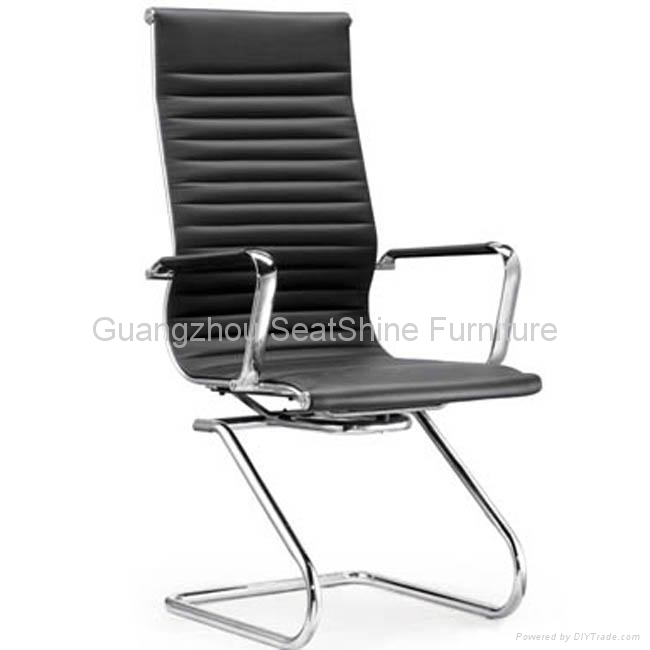 rotating leather office chair high mid back 3