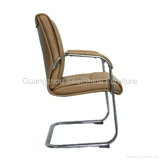 rotating leather office chair high mid back 5