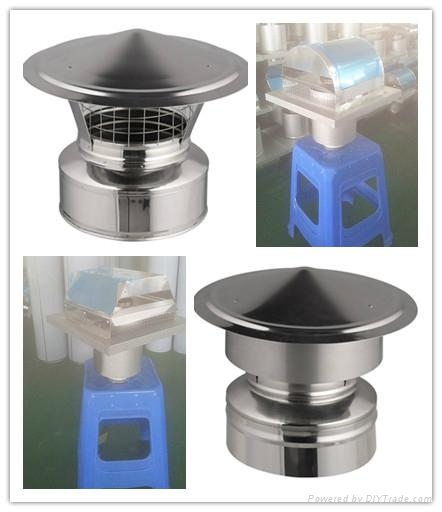 Ce and double wall stainless steel chimney cap
