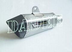 Racing Motorbike Oblique hexagonal Titanium Alloy slip-on system Exhaust