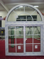 Arched Grill Design Cheap Price UPVC Sliding Window with Mosquito Net