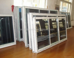 hot sale tinted glass pvc window pvc sliding window