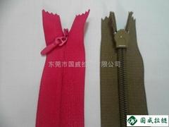 广东5#隐形拉链布边水滴头