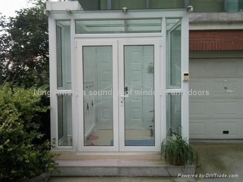 Double composite vacuum insulated doors nm 008 ning for Insulated double doors